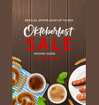 advertisement flyer for oktoberfest sale vector image vector image