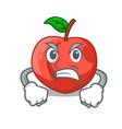 angry cartoon fresh sweet nectarines in the garden