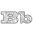 Anti coloring book alphabet the letter B vector image