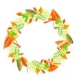 Autumn foliage bouquet wreath vector image