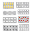 blisters with medical pill drug capsule and tablet vector image