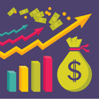 Business Dollar Trend Graphics vector image