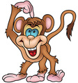 Cheerful Monkey Pointing vector image vector image