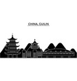 china guilin architecture urban skyline with vector image vector image
