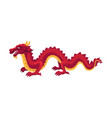 Chinese japanese red dragon standing on four paws