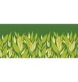 Corn plants horizontal seamless pattern background vector image vector image