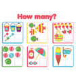 counting educational children game study math vector image vector image