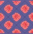cute seamless pattern with blooming flowers vector image vector image