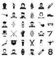 cutting beard icons set simple style vector image vector image