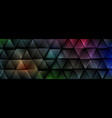 dark colorful abstract glossy triangles tech vector image vector image