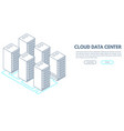 data center banner vector image vector image