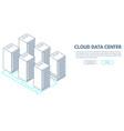 data center banner vector image vector image