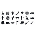 deforestation icons set simple style vector image vector image