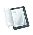 Electronic book concept - vector | Price: 3 Credits (USD $3)