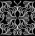 embroidery black and white damask seamless vector image