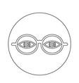 eye glasses icon vector image vector image