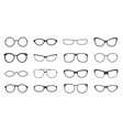 eyeglasses frame icon on white background set vector image
