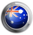 flag of australia in round icon vector image vector image