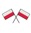 flag of poland stylization of national banner vector image vector image