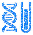 genetic analysis grunge icon vector image vector image