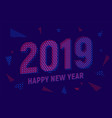 greeting card with inscription happy new year 2019 vector image vector image