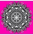 grey circular decorative geometric pattern vector image