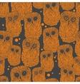 Halloween owl pattern vector image vector image