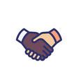 handshake deal partnership icon vector image