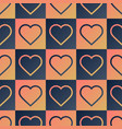heart seamless pattern with creative shape in vector image vector image