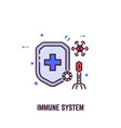 immune system and shield vector image vector image