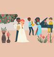 international couple wedding celebration vector image vector image
