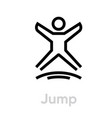 jump sport activity icon vector image vector image