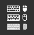 keyboard and mouse icons vector image