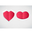 Love Heart Note with Text Space vector image vector image