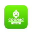 luxury cognac icon green vector image vector image