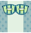 Masquerade mask on a blue background vector image vector image