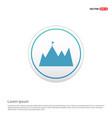 mountain icon - white circle button vector image