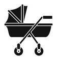 new baby carriage icon simple style vector image vector image