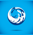 ocean freshness theme logotype water day vector image vector image