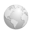 origami white paper world globe 3d vector image