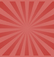 retro rays comic red background raster gradient vector image