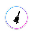 ringing bell icon isolated on white background vector image vector image