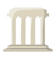 roman colums building vector image