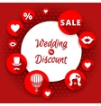 Sale discount wedding card vector image vector image