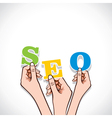 SEO word in hand vector image