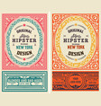 set 2 old liquor labels for packing vector image vector image