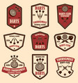 set darts club label templates design element vector image