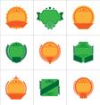 set flat badges and ribbons vector image