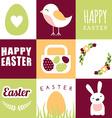 set happy easter design elements vector image
