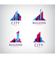 set logo buildings colorful icons vector image vector image